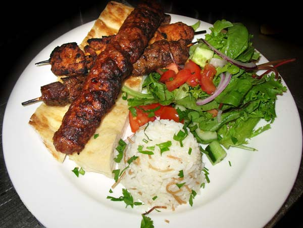Turkish kebab salad