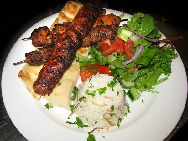 Turkish kebab salad